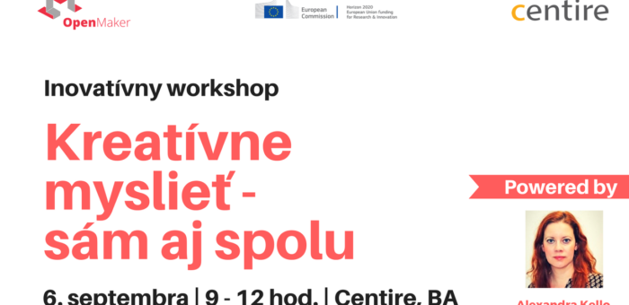 Interaktívny workshop: Kreatívne myslieť – sám aj spolu